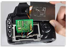 تعمیر ال سی دی دوربین