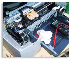 آموزش تعمیر چاپگر جوهر افشان
