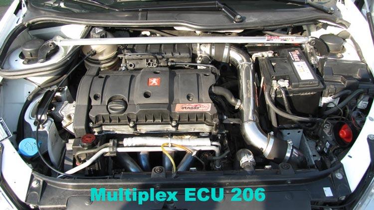 ساختار سخت افزاری ECU های سیستم مولتی پلکس خودرو 206