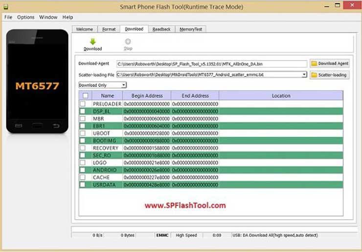 لیست خطاهای نرم افزار SP Flash Tools و راه حل