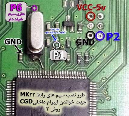 طرز نصب سیم های رابط روش2