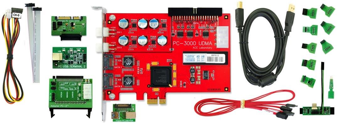 اجزای دستگاه PC3000