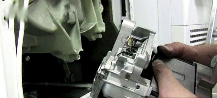 چگونگی نصب موتور لباسشویی