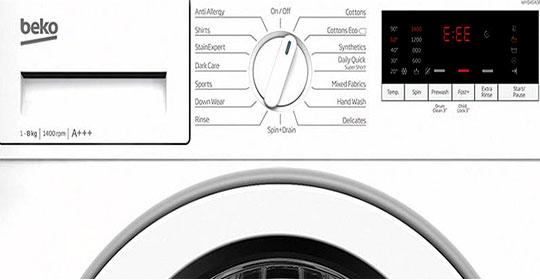 کد خطای انواع ماشین لباسشویی