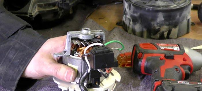 علت جرقه زدن موتور جاروبرقی